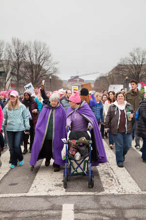 Women of all ages protested President Trumps positions on womens and other human rights. Editorial