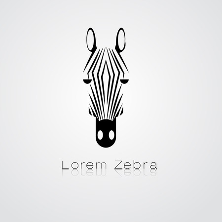 image of an zebra head on white background Vector