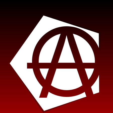anarchism: Anarchy Symbol on black and red background