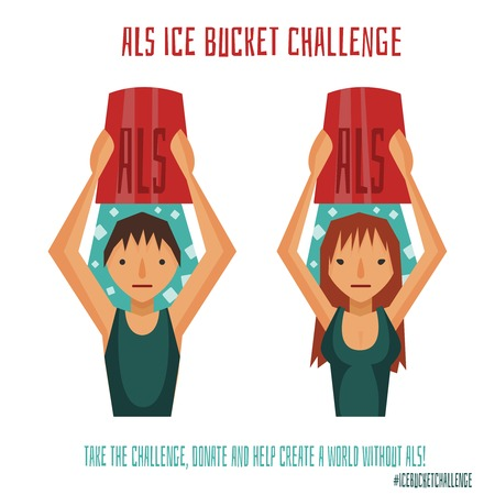 challenge: ALS Ice Bucket Challenge boy and girl.