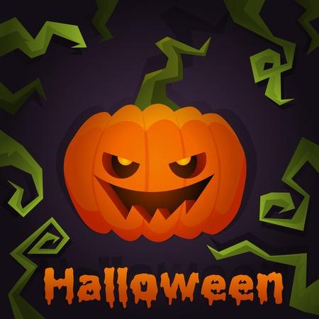 Halloween Pumpkin Jack scary poster.