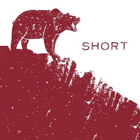 短い販売金融の概念を負担します。ベクトル イラスト