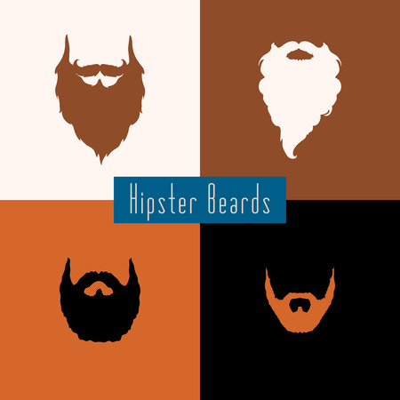 rogue: Beard style set with flat design . Vector illustration
