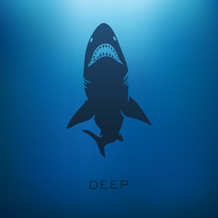 Shark concept with blur background. Vector illustration Фото со стока - 38427984
