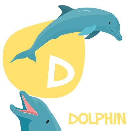 面白い漫画動物アルファベット A から Z までの子供のため。  イラスト・ベクター素材
