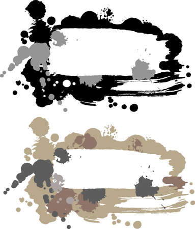 Abstract banner with blots. Illustration