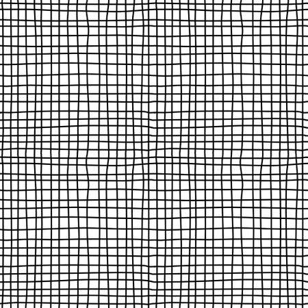 Textured canvas. Black and white seamless pattern. Vector illustration. EPS8  イラスト・ベクター素材
