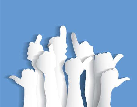 Arms sign flat like blue sky Illustration