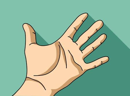 Palm hand flat hand. Stock Photo