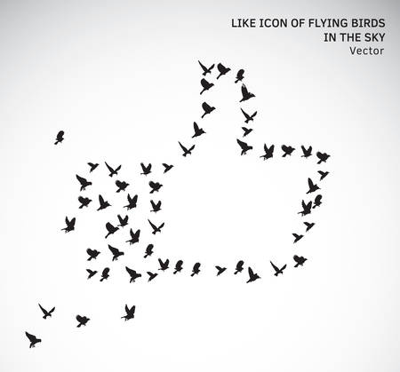 Like icon of flying birds isolated symbol Banque d'images - 107620635