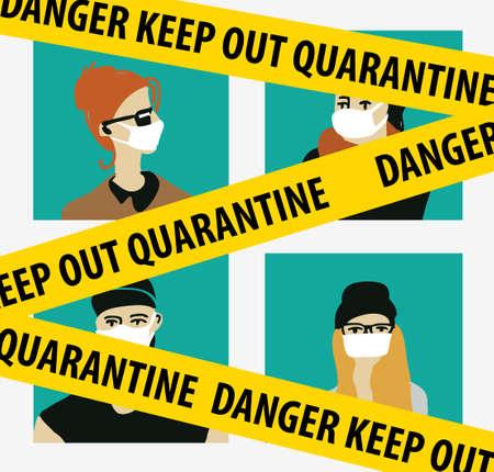 Quarantine virus epidemic home isolation people