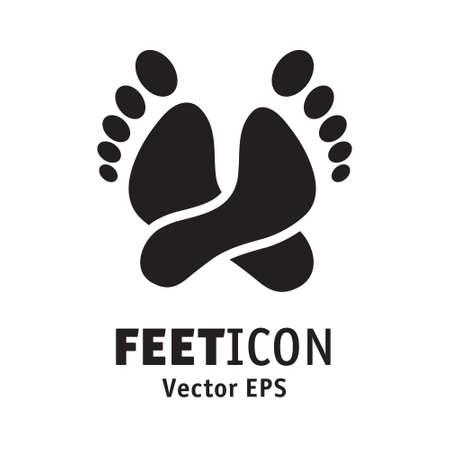 Feet icon relax symbol rest lie 向量圖像