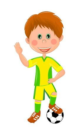 children's illustration of a football player Banque d'images - 134879615