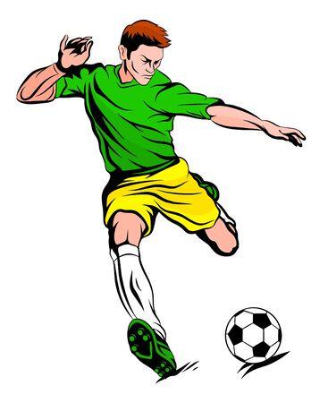 football player in yellow green uniform