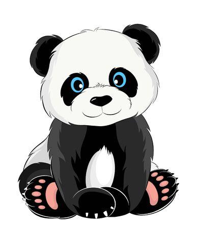 cute baby Panda tale funny Vecteurs