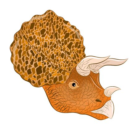 head Triceratops cartoon cute brown kind