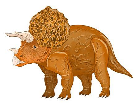 Triceratops cartoon cute brown kind Çizim
