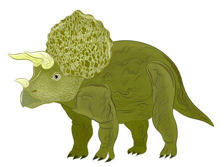 Triceratops cartoon cute green kind Çizim