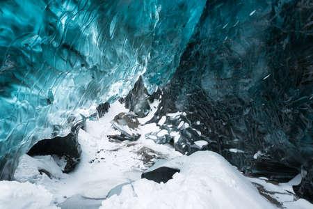 Inside the ice cave, Vatnajokull glacier, Iceland
