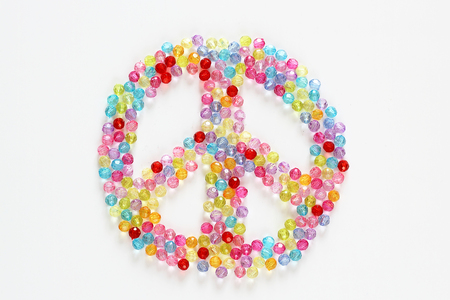 colorful beads: Colorful beads peace for background and backdrop