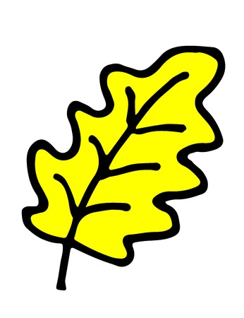 oak leaf cartoon hand drawn doodle vector illustration