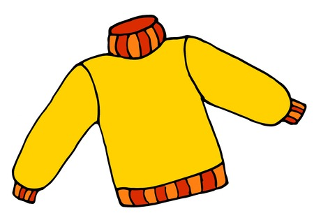 hand drawn Sweater doodle cartoon vector illustration