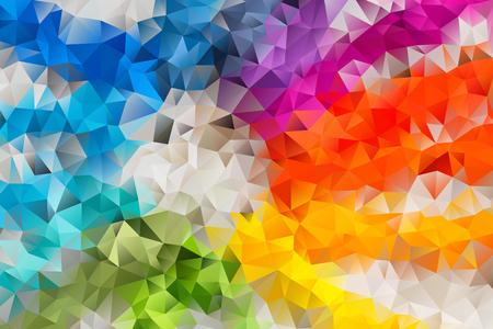効果幾何学的三角形のベクトル多色抽象背景