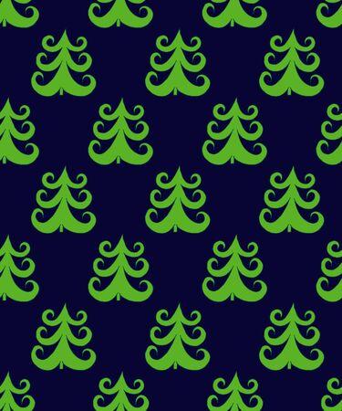 緑抽象的なクリスマスもみの木ベクトル イラストのパターン。