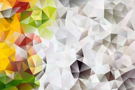 vector multicolored abstract floral background of effect geometric triangles.