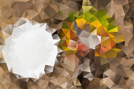 Vector multicolored abstract background of effect geometric triangles. Stock Illustratie