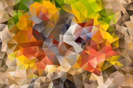 Vector multicolored abstract background of effect geometric triangles. Çizim
