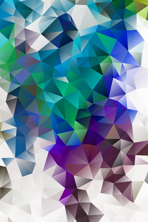 vector multicolored abstract background of effect geometric triangles. Ilustração