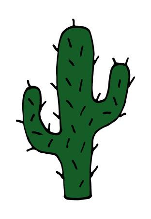 illustration of Cactus vector doodle cartoon Hand drawn 向量圖像