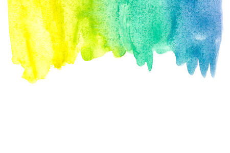 Border of abstract watercolor art hand paint isolated on white background. Watercolor background.