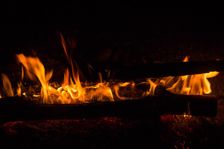 part of Night campfire with available space photo outdoor