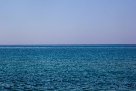Landscape of sea horizon seascape under the blue sky