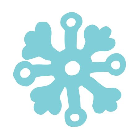 Hand drawn cartoon doodle snowflake vector icon winter snow symbol