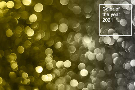 shiny glitter holiday beautiful abstract blur bokeh background. Color of the year 2021