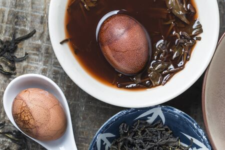 Hard-boiled herbal egg Zdjęcie Seryjne
