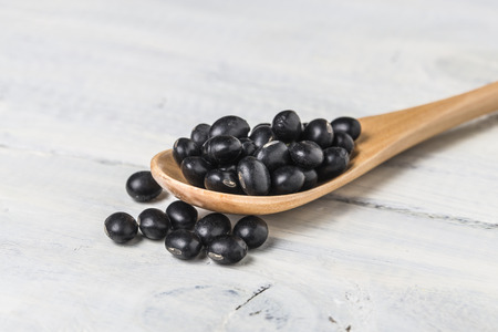 black beans: Black beans Stock Photo