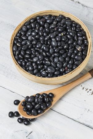 Black beans Banque d'images