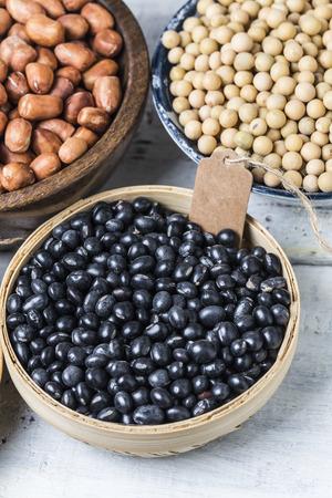 black beans: Black beans close up