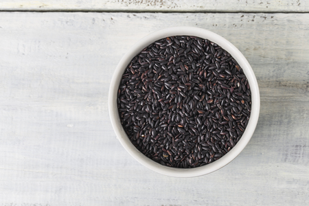 black rice: Black rice close up Stock Photo