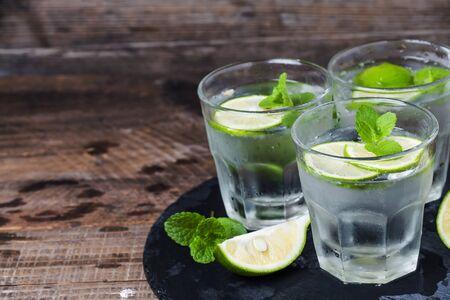 summer fruits: Lemon mint water