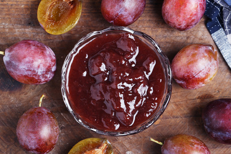 gules: plum and jam Stock Photo