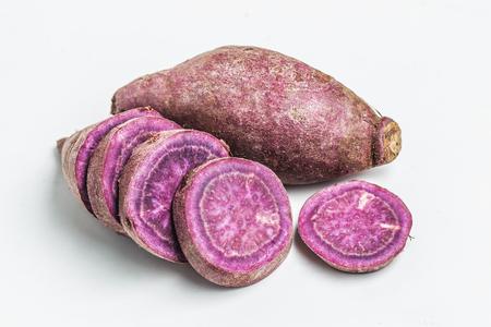 sweet potato: camote morado Foto de archivo