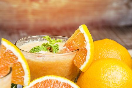 icecube: orange juice Stock Photo