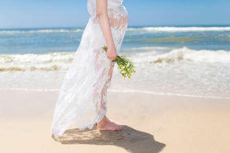 seawater: Women beside sea Stock Photo
