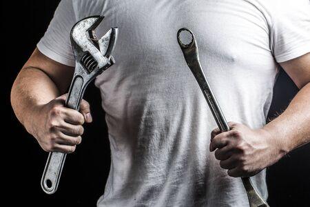 hand tool: Repair worker Stock Photo