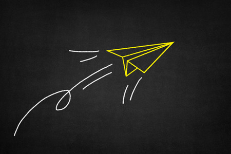 Chalk drawing plane